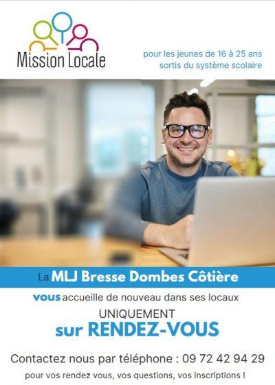 Affichette Mission Locale Jeune Bresse Dombes Côtière