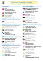 Liste des associations et manifestations 2021