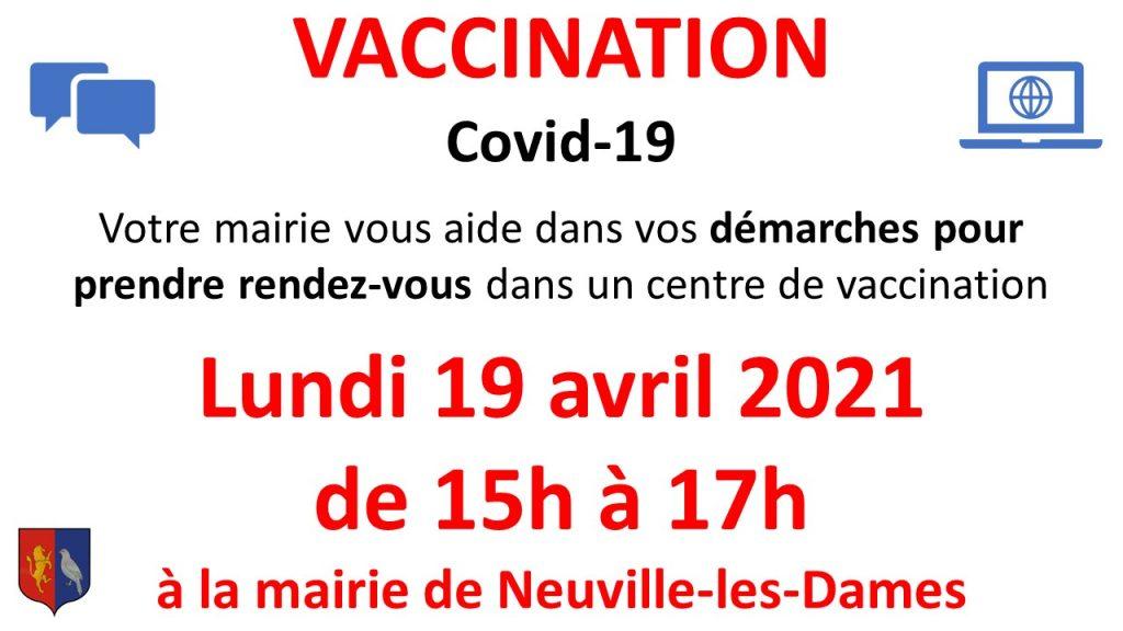 Aide pour prendre rendez-vous dans un centre de vaccination