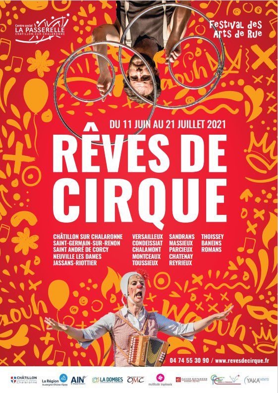 Festival Rêves de cirque 2021 - Spectacles de cirque en Dombes
